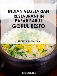 One of the best Indian vegetarian restaurants in Jakarta's Little India in affordable price Vegetarian Restaurants, New Market, Jakarta, Indian Food Recipes, Posts, Dining, Blog, Travel, Messages