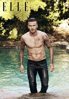 Wet And Topless David Beckham