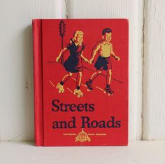 Your place to buy and sell all things handmade Vintage Nursery Decor, Vintage School, Vintage Colors, Childrens Books, Street, Roads, Illustration, Etsy, Art