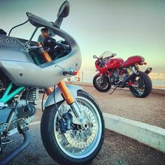 Ducati Sport Classics looking over the Golden Gate - Doug Zeman #ducati #sportclassic  #sport1000 #dougzeman #theottocycle @ducatimotor @ducatiusa
