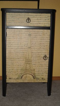 Vintage Paris decorated Cabinet