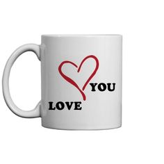 Check out this design from Customized Girl. Coffee Cups, Tea Cups, Customized Girl, Gift Exchange, Love You, Valentines, Mugs, Day, Gifts