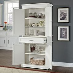 Midway Pantry - White | American Signature Furniture