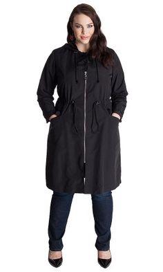 Plus Size Domaniac Top Curvy Fashion Bug Coat www.fashionbug.us