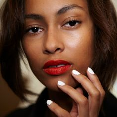Image result for white nail polish on brown skin