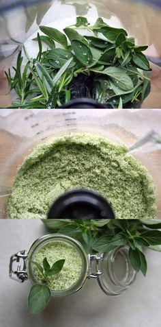 Homemade herb salt