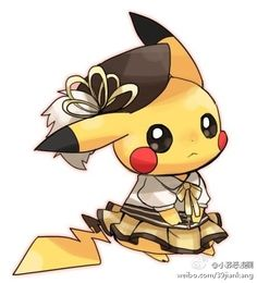 Pikachu in Mamis costume