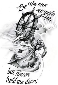#RetroTattoos #OldSchoolTattoo Image result for anchor and flower tattoo , click for info.