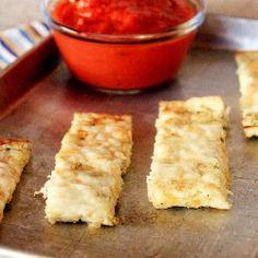 Cheesy Cauliflower Breadsticks... Omg these were so yummy and incredibly easy