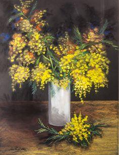 Mimosas. Pastel. 76x61.