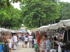 Feira Hippie, Ipanema - Rio de Janeiro. Feira com vários artesanatos e produtos típicos brasileiros.