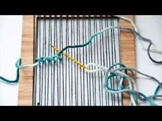 I have had a few requests about making a video on the soumak weave and since I haven't made a silly stop motion weave video in a while, I felt like this was the Pin Weaving, Weaving Art, Weaving Patterns, Loom Weaving, Tapestry Weaving, Yarn Crafts, Fabric Crafts, Peg Loom, Weaving Projects
