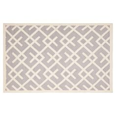 Safavieh Dhurries Broken Lattice Handwoven Flatweave Wool Rug, Grey