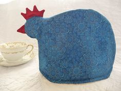 Blue chicken tea cozy - love it!