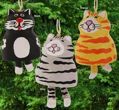 Fat Cat Bell Ornament