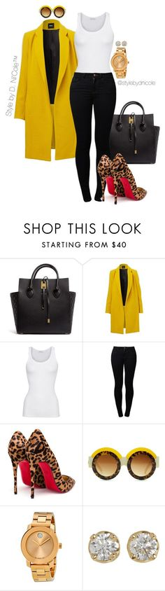 """Untitled #3197"" by stylebydnicole ❤ liked on Polyvore featuring Michael Kors, American Vintage, Noisy May, Christian Louboutin, Movado, Hoorsenbuhs, women's clothing, women, female and woman"