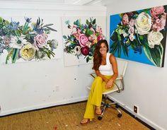 Kate Mullin Art. www.katemullinart.com artist floral impasto