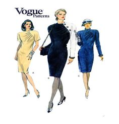 Vogue 7914 Womens Dress Pattern Couture by FindCraftyPatterns