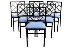 faux bamboo dining chairs (6 available)