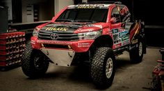 2017 Toyota Hilux Evo rally car >>> Toyota Gazoo Racing has revealed its all-new Hilux-based challenger for the 2017 Dakar Rally. Where the previous iteration of the machine was front-engined and four-wheel-drive, the new Hilux Evo is mid-engined and rear-wheel-drive. The switch has been made to take advantage of the greater suspension travel, bigger wheels, and lower weight RWD 'buggies' are allowed. The new Hilux weighs around 1300 kg, where the old 4x4 car tipped the scales at 1915 kg.