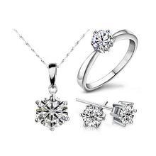 SnowStar Necklace Earrings &  Rings Set