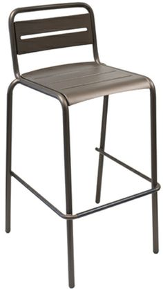 Star barstool - available as Quick Ship in Aluminum, A/Bronze and A/Black. #emuamericas #emu