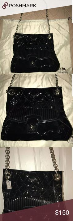Coach lip gloss black excellent condition Authentic coach lip gloss black excellent condition.  Comes with a dust cover Coach Bags Shoulder Bags