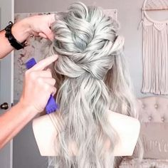 Easy Hairstyles For Long Hair, Fancy Hairstyles, Bride Hairstyles, Bridesmaid Hairstyles, Hairdos, Wedding Hair And Makeup, Hair Makeup, Hair Wedding, Hair Upstyles