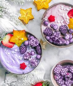 Black Goji Smoothie Bowls The talented @isiaaak created these magical smoothie bowls. Who else wants one Shop our superfoods here: https://www.unicornsuperfoods.com/collections/all