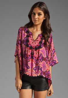 Anna Sui Arabesque Print Top in Magenta Multi  Available At: http://www.revolveclothing.com/DisplayProduct.jsp?product=ASUI-WS34=Anna+Sui