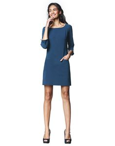 LaDress offers dresses in beautiful fabrics, timeless designs and high quality materials. Timeless Design, Dresses For Work, Tunic, Ink, Fabric, Beautiful, Fashion, Gowns, Fashion Styles