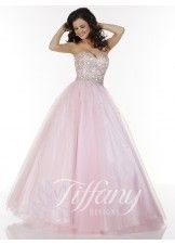 Tiffany Designs 61124 Strapless Ball Gown
