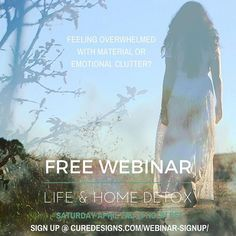 FREE WEBINAR: LIFE & HOME DETOX :: SPRING CLEANING  Leave your email in the comments or signup through curedesigns.com link in bio  Live webinar is scheduled for Saturday April 2nd at noon PST. Topics include DETOX  CLEAN  ORGANIZE  IMPLEMENT  RECYCLE  DONATE  SELL  REUSE  INTERIOR DESIGN & STYLING  ENERGY  SACRED SPACES  REDUCING WASTE  TOXIN FREE  DIY  NATURAL PRODUCTS  LIFESTYLE CHANGES and more!! I can't wait to share with all of you how to transition into a happy healthy Spring. One…