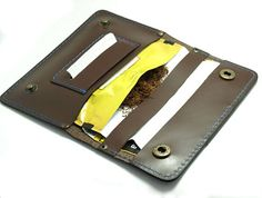 Personalized BROWN genuine leather tobacco pouches italian