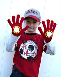 DIY no sew Iron man gloves for the boys.