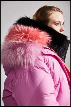 Jazzevar Winter High Fashion Street Designer Brand Womens Short Duck Down Jacket Cute Pink Color Real Fur Outerwear Pink Puffer Coat, Duck Down Jacket, White Ducks, Puffy Jacket, Down Parka, Cute Pink, Short, Pink Color, Pretty Girls