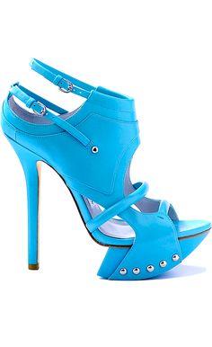 beautiful blue camilla skovgaard heels. #shoeporn