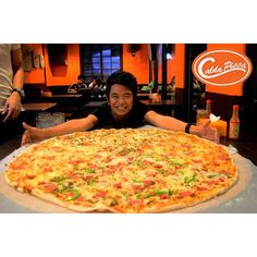 Grab a 36 inch super sized pizza today at your nearest Calda Pizza outlet. Find one that's just right for you from a wide selection of flavors and sizes!