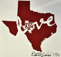 Luv those Texas aggies! College Fun, College House, Loving Texas, Craft Quotes, Love Wall, Texas A&m, Southern Charm, School Fun, Making Ideas