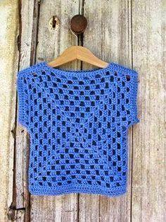 Transcendent Crochet a Solid Granny Square Ideas. Inconceivable Crochet a Solid Granny Square Ideas. Débardeurs Au Crochet, Pull Crochet, Gilet Crochet, Mode Crochet, Crochet Jacket, Crochet Woman, Crochet Granny, Crochet For Kids, Crochet Crafts