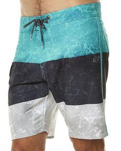 FOX CID MENS BOARDSHORT - SEAFOAM Mens Swim Shorts, T Shorts, Korean Fashion Men, Mens Fashion, Fashion Goth, Fashion Vintage, Boxer Pants, Rock Style Men, Cocktail Attire