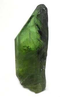 T06-337 Peridot+with+Ludwigite+inclusions Suppat,+Kohistan,+Pakistan Miniature,+5.3+x+2.1+x+1.4+cm…