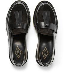 Shop men's loafers at MR PORTER, the men's style destination. Leather Loafers, Loafers Men, Mens Designer Loafers, Daily Fashion, Mens Fashion, Mens Shoes Online, Men's Footwear, Slipper Boots, Mr Porter