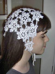 girl-white-crochet-head-scarf