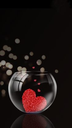 Heart In A Glass ♥