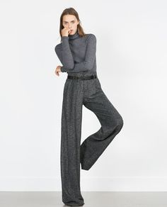 Wonder if I'm tall enough to pull these off -- HERRINGBONE TROUSERS from Zara