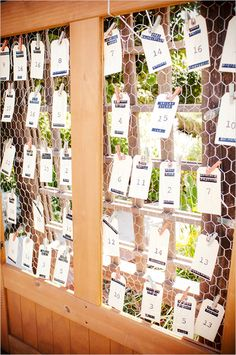 Like the clothes pins on the chicken wire. Maybe sub kraft  paper instead with coloured bakers string