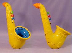 Fisher-Price bubble sax. One of your favorites. I'll never forget when we got in a fight and I smashed you in the mouth with it :)