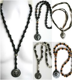 ETHNIC INSPIRED MENS HEMATITE OR STAINLESS STEEL LION PENDANT 16 -40 NECKLACE