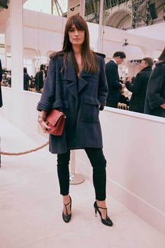 Caroline de Maigret: Her 20 Most Fashionable Moments Fashion Week Paris, Style Noir, Mode Style, Parisienne Chic, Love Fashion, Autumn Fashion, Fashion Design, Fashion Bags, Fashion Dresses
